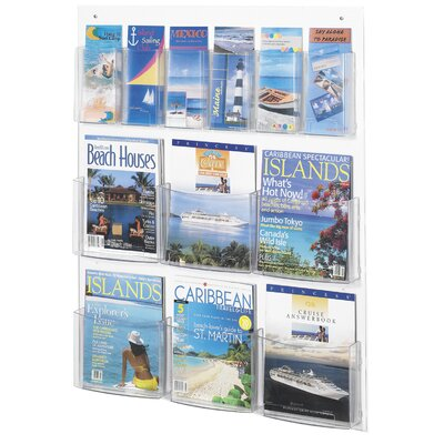 Safco Products Company 12 Pocket Magazine Rack