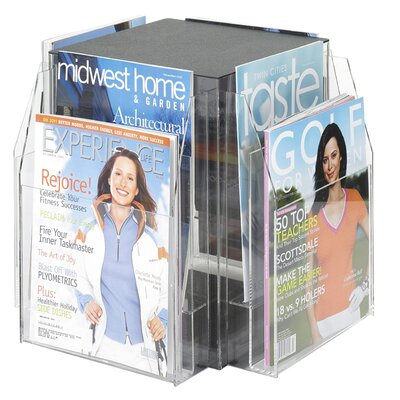 Safco Products Company 8 Pocket Magazine Table Display