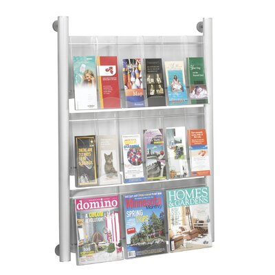 Safco Products Company Luxe 9 Pocket Magazine Rack