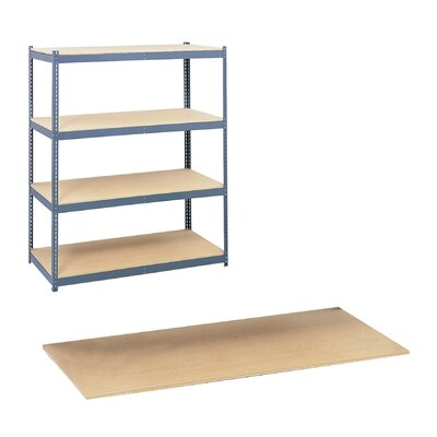 "Safco Products Company Particleboard 71"" H 4 Shelf Shelving Unit with Steel Pack Archival"