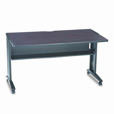 Safco Products Company Mobile Computer Desk with Reversible Top
