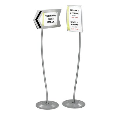 Safco Products Company Customizable Rectangular Sign Stand