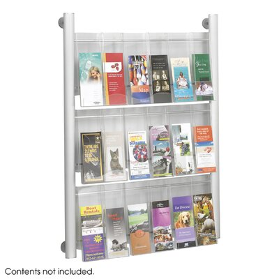 Safco Products Company Luxe 9 Pocket Magazine Rack in Silver