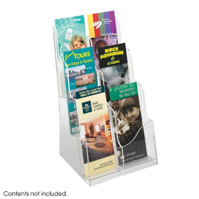Safco Products Company Acrylic 3 Pocket Magazine Display