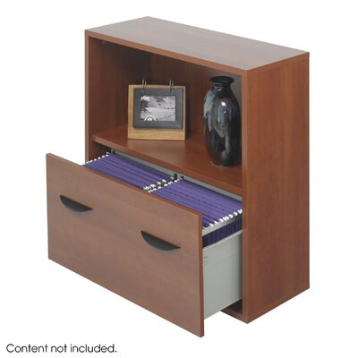 Safco Products Company Apres Modular Storage Shelf with Lower File Drawer