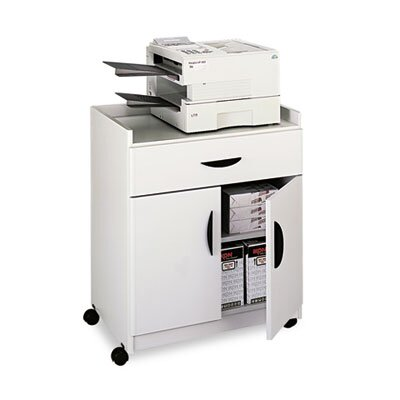 "Safco Products Company Mobile Laminate Machine Stand with Pullout Drawer, 30"" Wide"