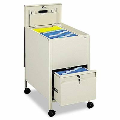 Safco Products Company Locking Mobile Tub File with Drawer, Letter