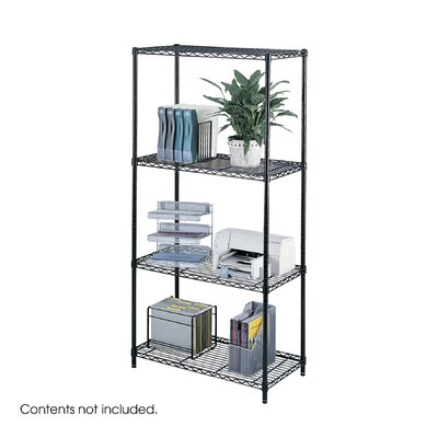 "Safco Products Company Industrial Wire 72"" H 3 Shelf Shelving Unit Starter"