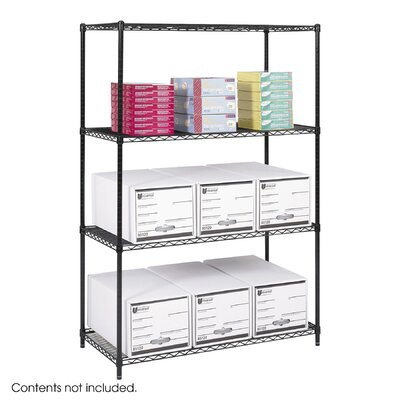 "Safco Products Company Industrial 72"" H 4 Shelf Shelving Unit Starter"