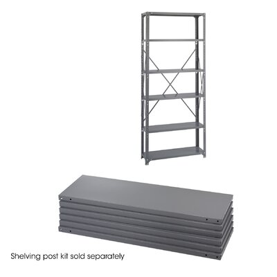 "Safco Products Company 12"" Industrial Steel Shelving in Dark Gray"