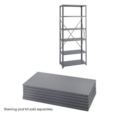 "Safco Products Company 18"" Industrial Steel Shelving in Dark Gray"