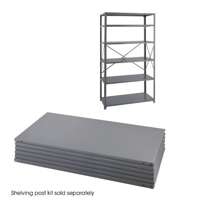 "Safco Products Company Industrial 85"" H 5 Shelf Shelving Unit Starter"