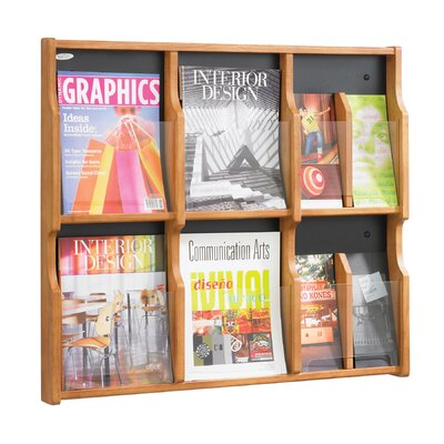Safco Products Company Expose Six Magazine and Twelve Pamphlet Display Wall Rack
