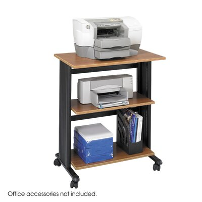 Safco Products Company Mobile Machine Cart, 3-Shelf