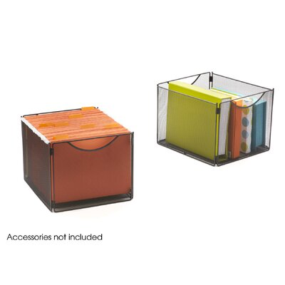 Safco Products Company Onyx  Mesh Cube Bins (Set of 2)