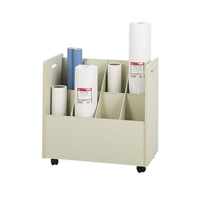 Safco Products Company Laminate Mobile 8 Compartments Roll File