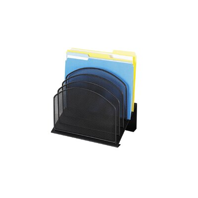 Safco Products Company Mesh Desk Organizer, Five-Tiered Sections