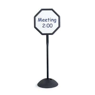 "Safco Products Company Magnetic/Dry Erase Steel Double Sided Sign, Magnetic/Dry Erase Steel, 18.25"" Wide"