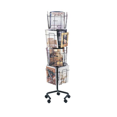 Safco Products Company 16 Pocket Rotary Display Rack