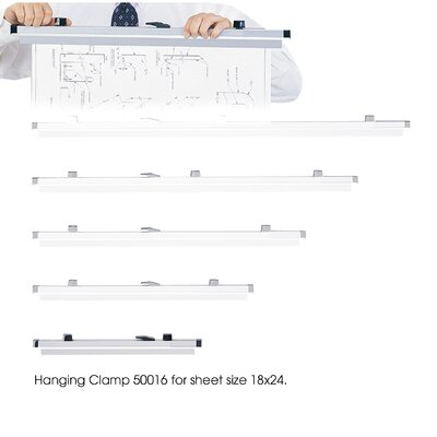 "Safco Products Company Sheet File Hanging Clamps, 100 Sheets Per Clamp, 18"", 6/Carton"