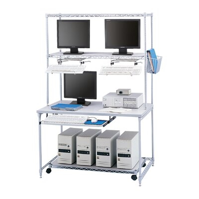 Safco Products Company Wire LAN Workstation with Utility Basket