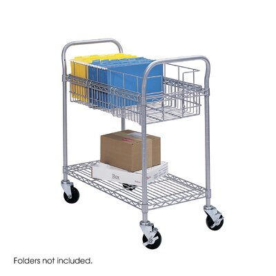 Safco Products Company Wire Mail Cart, 600Lbs