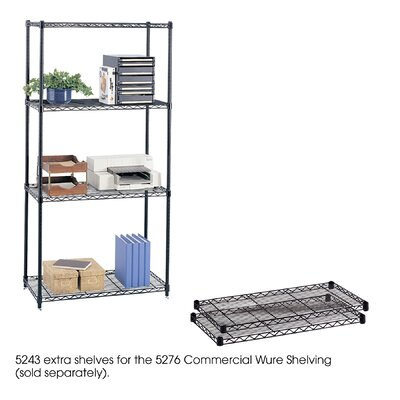 "Safco Products Company Commercial Wire Shelving 36""W Extra Shelves"