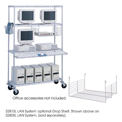 Safco Products Company Wire Drop Shelf for Wire LAN Management System