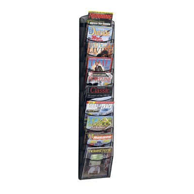 Safco Products Company Mesh Literature Rack, 10 Compartments