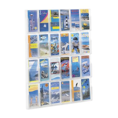 Safco Products Company Reveal Clear Literature Displays, 24 Compartments