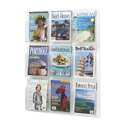 "Safco Products Company Reveal Clear Literature Displays, 9 Compartments, 36.75"" High"