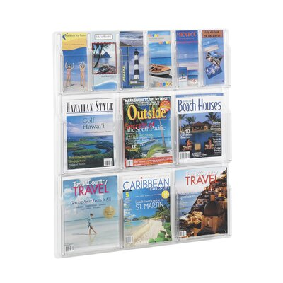 "Safco Products Company Reveal Clear Literature Displays, 12 Compartments, 34.75"" High"