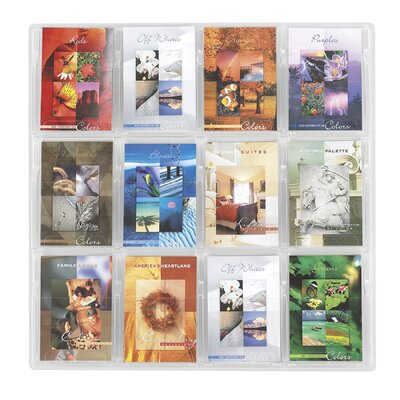 "Safco Products Company Reveal Clear Literature Displays, 12 Compartments, 30"" High"