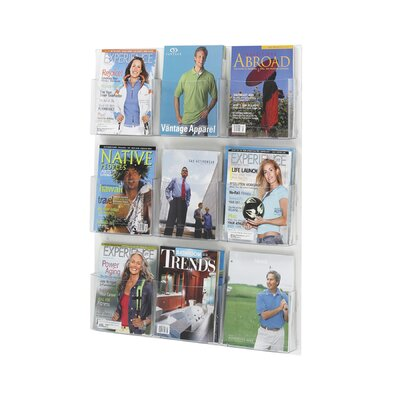 Safco Products Company Safco Magazine Rack with 9 Pockets