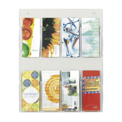 Safco Products Company Safco Pamphlet Rack with 8 Pockets