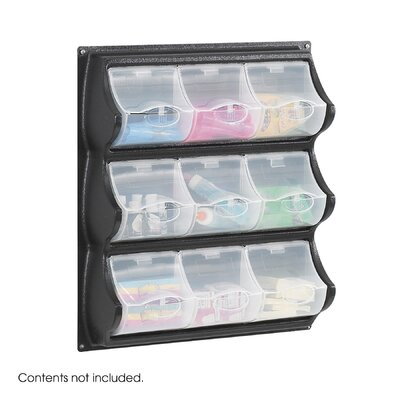 Safco Products Company Polypropylene Panel Storage with 9 Bins