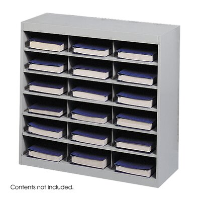 Safco Products Company Steel Project Center Organizer, 18 Pockets