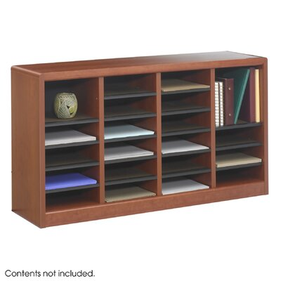 Safco Products Company Wood E-Z Stor Literature Organizers in Cherry