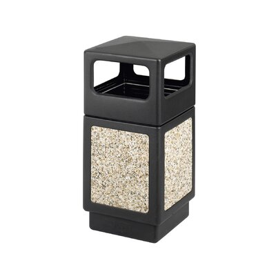 Safco Products Company Canmeleon Side-Open Square Receptacle, 38 Gal
