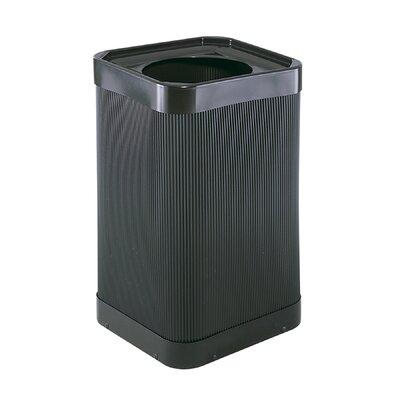 Safco Products Company At-Your Disposal Top-Open Waste Square Receptacle