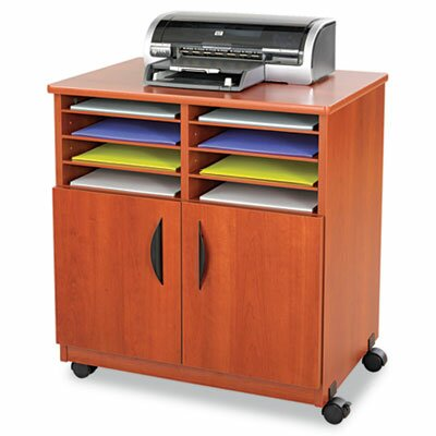 Safco Products Company Laminate Machine Stand with Sorter Compartments