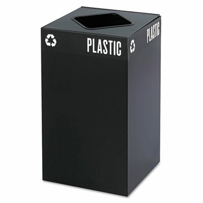 Safco Products Company Public Square Recycling Container in Black