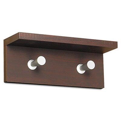 Contempo Wood 2 Hook Coat Rack