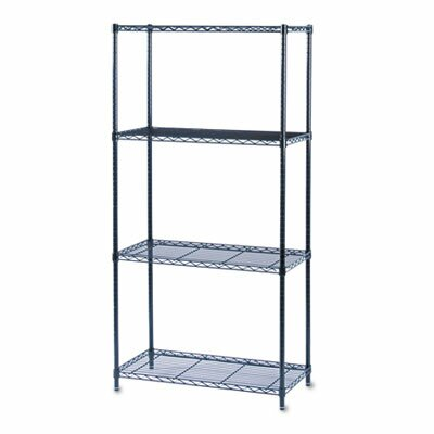 Safco Products Company Commercial Wire Shelving in Black