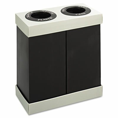 Safco Products Company At-Your-Disposal Recycling Center, Two 28-Gal Bins