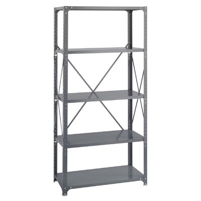 Safco Products Company Commercial Steel Shelving in Dark Gray