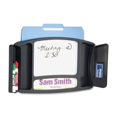 Safco Products Company Deluxe Message Board / Name Plaque 0.83' x 1.33' Whiteboard