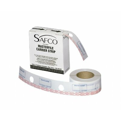 Safco Products Company MasterFile 2 Carrier Transparent Polyester Strip
