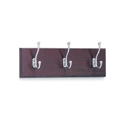 3 Hook Wood Coat Rack