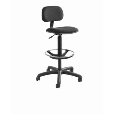 Safco Products Company Height Adjustable Drafting Chair with Footring